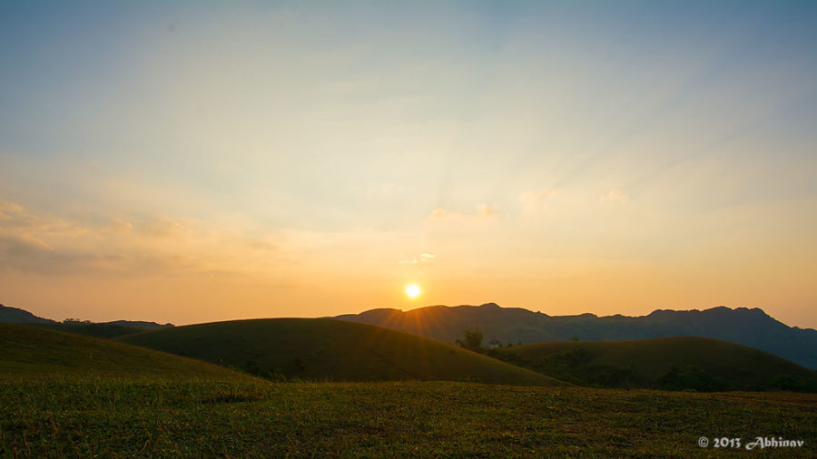 Sunset views from Vagamon